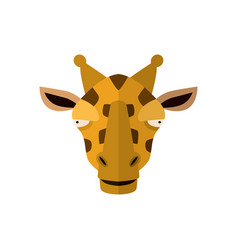 Giraffe head icon in flat design vector