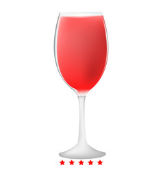 glass wine icon color fill style vector image