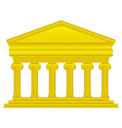 Gold ionic temple vector image