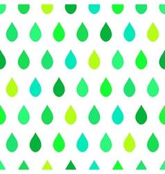 Green Tone Rain White Background vector image