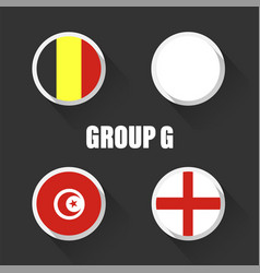 Groups football world championship in russia vector