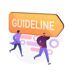 Guideline and regulation concept metaphor vector