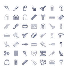 Hairdresser icons vector