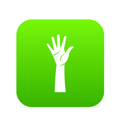 hand icon digital green vector image