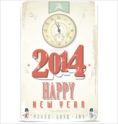 Happy New Year retro background vector image