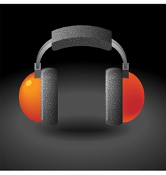 Icon for headphones vector image
