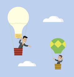 Idea raises businessman vector