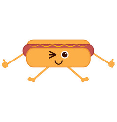 isolated happy hot dog emote vector image