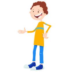 Kid or teenager boy cartoon character vector