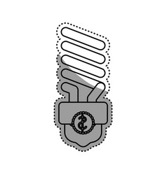 light bulb electric fluorescent vector image