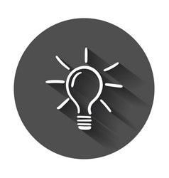 light bulb icon sketch in hand drawn idea doodle vector image