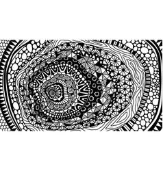 line art abstract entangle design vector image