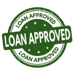 Loan approved sign or stamp vector