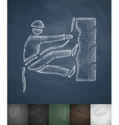 mountaineer icon Hand drawn vector image