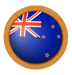 New zealand flag on round button vector