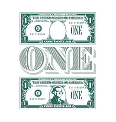 One heck of a tribute to the one dollar bill vector