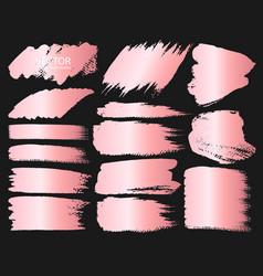 pink gold grunge brush strokes vector image