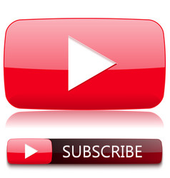 Play button for video player and a button vector