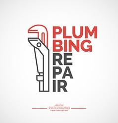Plumbing repair vector