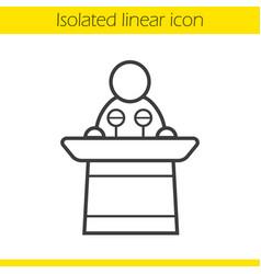 Politician linear icon vector