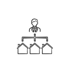 Real estate broker hand drawn outline doodle icon vector