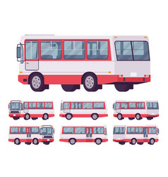 red bus set vector image