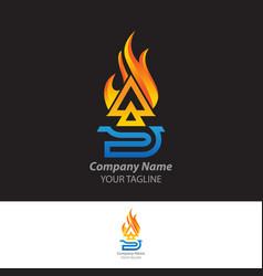 Sa letter logo design triangle monogram icon vector