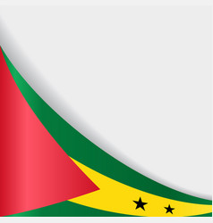 sao tome and principe flag background vector image