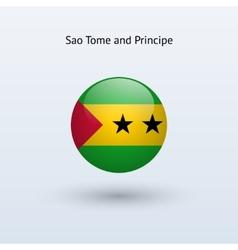 Sao Tome and Principe round flag vector image