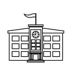 school building symbol vector image