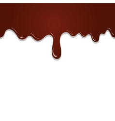 Seamless flowing melted chocolate isolated vector