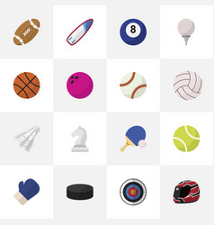 set of 16 editable active icons flat style vector image