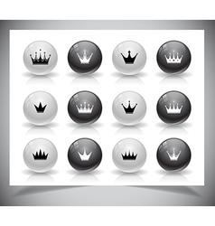 Set of crowns vector