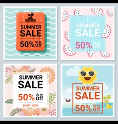 Set of summer sale template banner 1 vector image