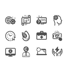 Set science icons such as architectural plan vector