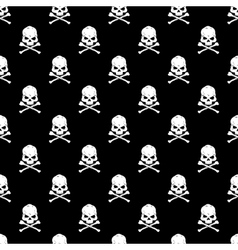 Skull and Bones seamless bacground vector image