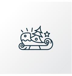 Sleigh icon line symbol premium quality isolated vector
