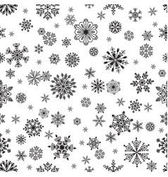 Snowflake seamless pattern vector