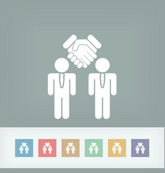 social agreed icon vector image