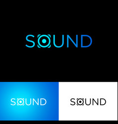Sound logo musical acoustics vector