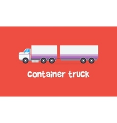 Style container truck on red backgrounds vector
