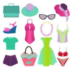 summer fashion 2 38 vector image