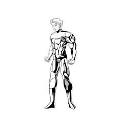 Superhero figure standing proud image vector