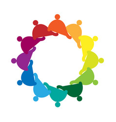 Teamwork social group people icon vector