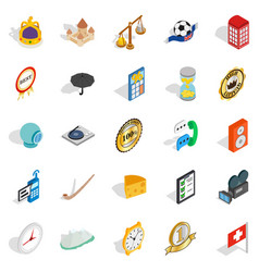 time icons set isometric style vector image
