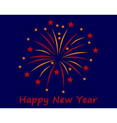 Turn of the year with firework vector