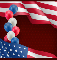 usa country patriotic background vector image