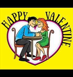 valentine romantic couple in love holding hands vector image