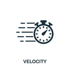 Velocity icon symbol creative sign from agile vector