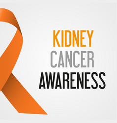 World kidney cancer day awareness poster eps10 vector